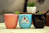 ingrosso ciao ciao gattino-Wholesale- Vendite nuovi arrivi Kawaii Doraemon Cartoon Novità Hello Kitty porcellana Carino rosa latte Coffe succo d'acqua facilmente tazza BW45