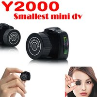 Wholesale smallest mini dv - Y2000 Mini HD Video Camera Small Mini Pocket DV DVR Camcorder Recorder Spy Hidden Web spy Cameras MOQ:5PCS
