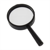 Wholesale Handheld Magnifiers - Wholesale-2 pcs Reading 5X Magnifier Hand Held Magnifying 25mm Glass handheld 2016New Arrival Free Shipping