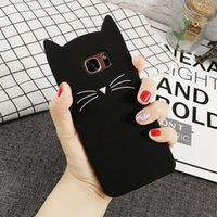 Wholesale cartoon samsung cases for sale – best 2018 Fashion Silicone Cartoon Case For Samsung J3 J5 J7 EU Note Beard Cat Cover