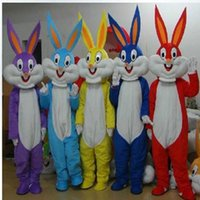 Wholesale High Quality Rabbit Costume - High quality Easter Rabbit mascot costumes fancy dress Halloween carnival costume free shipping