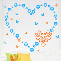 Wholesale Cheap Stickers Kids - Colorful Flower Wall Blackboard Sticker PVC Material Removable Decorative Wall Stickers Childrens Room Decor Cheap Decal Online