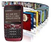 cartões digitais desbloqueados com cartões sim venda por atacado-2MP bar desbloqueado telefone câmera cartão sim 2.36 polegada E63 telefone celular smart phone com WIFI GPS Bluetooth rádio FM com caixa