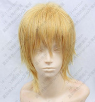 Wholesale Kise Wig - 100% free shipping New High Quality Fashion Picture full lace wigs>>Kuroko's Basketball Kise Ryota blonde mix Cosplay Short Wig Postage Free