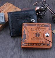 Wholesale money clip men - men dollar purse wallet leather designer card holders wallets Money Clip Dollar Bill Leather Card Holder Wallet Purse KKA2503