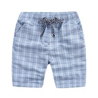 Wholesale China Wholesale Clothing For Children - England style children clothing middle big boys shorts plaid breathable washed cotton beach shorts for young China supply 2016 summer