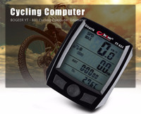Wholesale Bike Speedometer Bogeer - BOGEER YT - 833 Bike Computer Noctilucent Wired Practical Water Resistance Odometer Stopwatch Speedometer Bike Computers 1B