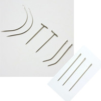 Wholesale hair bags for tools for sale - Group buy 12pcs Bag Stainless Steel needles Sewing Needles for weaving hair professional hair extensions tools different style