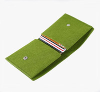 Wholesale Drop Purse Organizer - 2016 new felt wallet folding multi-function coin purse fashion card package drop shipping Can be customized adding logo