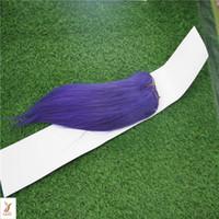 couleur pourpre trame de cheveux achat en gros de-Couleur pourpre Double Trame Brésilienne Vierge Cheveux Raides Armure 100% Brésilienne Remy Cheveux Extension 10-30