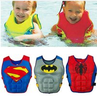Wholesale Life Jacket Orange - Baby Swim Vest Child Swimming Learning Jacket Ring Infant Life Jacket Kids Cartoon Floatable Swimsuit Boy Girl Cool Rafting Vest hight quali