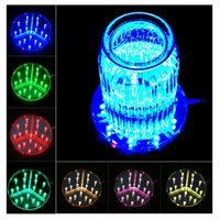 Barato Peças De Centro De Festa Led Light-Multi-cores 6inch LED Display Light 15CM Mesa Led Vase Light Base com controle remoto Party Wedding Centerpieces Decoração iluminação
