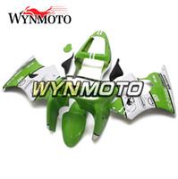 kit de plástico branco zx6r venda por atacado-Carenagem Completa para Kawasaki ZX-6R ZX6R 1998 1999 98 99 Verde Branco Plástico Motocicleta Carenagem Kit ABS Corpo Kit Cobre Painéis