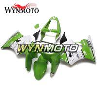 zx6r 1998 99 toptan satış-Kawasaki ZX-6R ZX6R için uygun Komple Fit 1998 1998 98 99 Yeşil Beyaz Plastik Motosiklet Fairing Kiti ABS Vücut Kiti Panelleri Kapakları