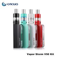 Wholesale E Cigarettes Storm - Original Vapor Storm OLED 50W V50 TC Mod Sub Ohm Tank Box Mod Temperature Control Electronic Cigarette Hookah Shisha RDA E Vape