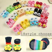 kinder schuhe socken großhandel-Baby-Tier-3D Socken-neugeborenes Baby-Jungen-Mädchen-im Freien beschuht Säuglingsmädchen-Gleitschutzgehenschuhe Kind-warme Socke scherzt Geschenk 18colors wählen