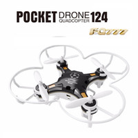 Wholesale uav helicopter camera - FQ777-124 Pocket Drone 4CH 6Axis Gyro Quadcopter Drones With Switchable Controller One Key To Return RTF UAV RC Helicopter Mini Drones 10PCS