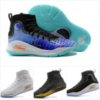 Wholesale Tai Chi Leather Shoes - Mens Basketball shoes top quality Curry 4 Mens shoes More Magic Miami Tai chi men Good Stephen Curry 4