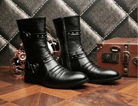 Wholesale Knee High Men S Boots - Autumn and winter men 's boots, Martin boots, high boots, men' s shoes, the trend of male high boots
