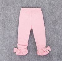Wholesale Children Cheap Tights Leggings - Pretty bows girl pants 2016 new cheap kids spring & autumn leggings 0-2 years children elastic pants in stock 4pcs