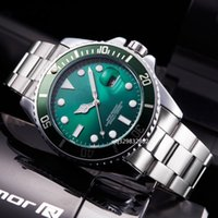 Wholesale New Fashion Leather Usa - relogio masculino Luxury watches aaa quality usa new fashion red green blue face automatic Male clocks black leather silver stainless steel