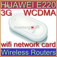 Wholesale HUAWEI E220 Wireless Routers G HSDPA UNLOCKED wifi network card WCDMA gsm support android G