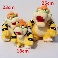 Wholesale Super Mario Bros Soft - Wholesale-3 styles selectable Bowser Plush Super Mario bros Bowser Koopa Stuffed Doll Soft Plush Doll Gift For Children