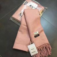 Wholesale Pashmina Shawls Plain Color - Pure Color 100% Virgin Wool Unisex Pashmina Cashmere Scarf Shawl 2017 New Acne Pashmina For both Man and Woman