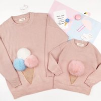 Wholesale Kids Sweaters Fashion - Mother Daughter Sweater Mom Girls Matching Knitting Shirt 2017 Autumn Winter Kids Girls Tshirt Women Sweaters Family Match Outfits Clothing