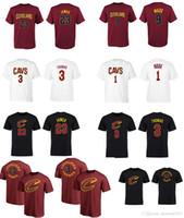 Wholesale Names T - 17-18 season USA basketball CAVALIER T-shirt CLEVELAND 3 Isaiah Thomas 23 Lbron JAMES 1 ROSE 9 WADE any custom NAME AND Number Tee