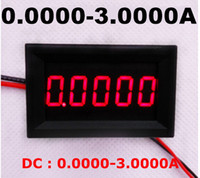 Mostra 10pcs / lot del motociclo digitale Amp Current Meter calibro del tester 0.0000-3.0000A Amperometri Panel DC LED