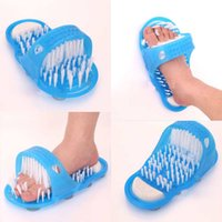 Easy Feet Foot Cleaner Gommage pour les pieds Brush Massager Clean Bathroom Shower Clean Blue Zlippers