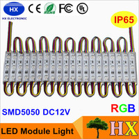 Wholesale 3led Ip65 - Superbright LED module light lamp SMD 5050 IP65 waterproof LED light module sign LED back lights SMD 3led DC12V RGB Warm White Red