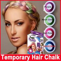 Wholesale Dye Pastel - Dye hair powdery cake Temporary Hair Chalk Powder Dye Soft Pastels Salon Party Christmas DIY 4 colors