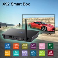Wholesale Iptv Set Top Box Hd - Original 3GB 16GB X92 Amlogic S912 Android 7.1 TV Box Octa Core KD17.4 Fully Loaded 5G Wifi 4K Smart IPTV Set Top Boxes