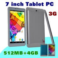Wholesale quad core dual sim calling tablet for sale - 10X DHL quot inch G Phone Call Tablet PC MTK6572 Dual Core Android Bluetooth Wifi GB MB Dual Camera SIM Card GPS B PB
