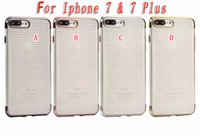 Iphone Plaqué Or En Diamant Pas Cher-Luxe Bling Diamant TPU souple étui en silicone pour Iphone 7 I7 Plus Iphone7 Rose Or Electroplate Plaquage Luxe Mode couverture de peau 100pcs