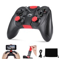 Gen Game S6 Wireless Bluetooth Gamepad Vibração Joystick Gaming Controller para Android IOS Smartphone PC TV com titular Alta qualidade