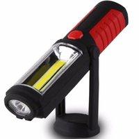 Self-Conscious 300lm Cob Led Light Stand Work Light Lamp Torch Flashlight With Magnet Lantern Hanging Hook Led Flashlights