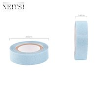 Wholesale Lace Front Glue Wholesale - Neitsi 5Roll 1.9cm *3Yards Double Sided Lace Front Support Tape Roll- Blue# Adhesives Super Glue Tape For Hair Extensions Lace wigs