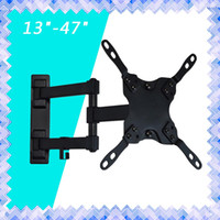 "Wholesale Mounting Flat Screen Wall - Full Motion TV Wall Mount Tilt Swivel VESA TV LED Monitor Mount Bracket 13"" to 47"" inch LED LCD Screen Stand 01"