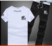 Wholesale Fleece Turtle Neck - Man T Shirt Summer 2016Short-Sleeved Tracksuit Set Tshirt Joggers Pants Sportswear Men's Suit