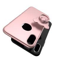 i̇nce ince telefonlar toptan satış-Telefon Kılıfı için Iphone X 5.8 '' inç Teddy Bear Arka Kapak ile Ultra Ince Tutucu Yüzük 5 Renkler / Daire Delik olmadan yüksek kalite
