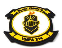 Wholesale Usmc Combat - 2016 50pc 3D Pvc USMC VMFA-314 Black Knights Squadron Patch Tactical PVC Patches Combat armband Badge 2204
