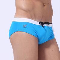 Wholesale Mens Bathing Shorts - Brand swimsuits Swim Shorts Beachwear Suits bathing Trunks surf Mens Sexy Sports Bikini swimming gay swimwear briefs