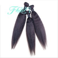 18 zoll brasilianische weblänge großhandel-8A Brasilianisches Haar Yaki Gerade Extensions Haar 10