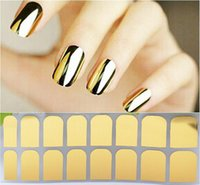 Wholesale Sticker Golden Nail - 19 Designs 3D Tip Nail Art Sticker 16sheets pcs Black Golden Silver Leopard Style DIY Nail Beauty Decorations Tools High Quality