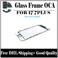 Wholesale Iphone Outer Glass - Front Touch Screen Panel Outer Glass Lens with Cold Press Middle Frame with OCA installed for iPhone 7 iPhone 7 plus Free DHL Shipping
