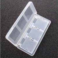 Wholesale Ndsl Games - 6 in 1 NDSL NDSI NEW 3DS 3DSXL Game Consoles Memory Card Storage Box Burning Memory Stick Holder Case Container Black White Color