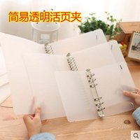 Wholesale Classic Bookmarks - Wholesale-Plastic Clip file folder classic transparent simple notebook loose leaf diary planner cover A5 A6 stationery 2016